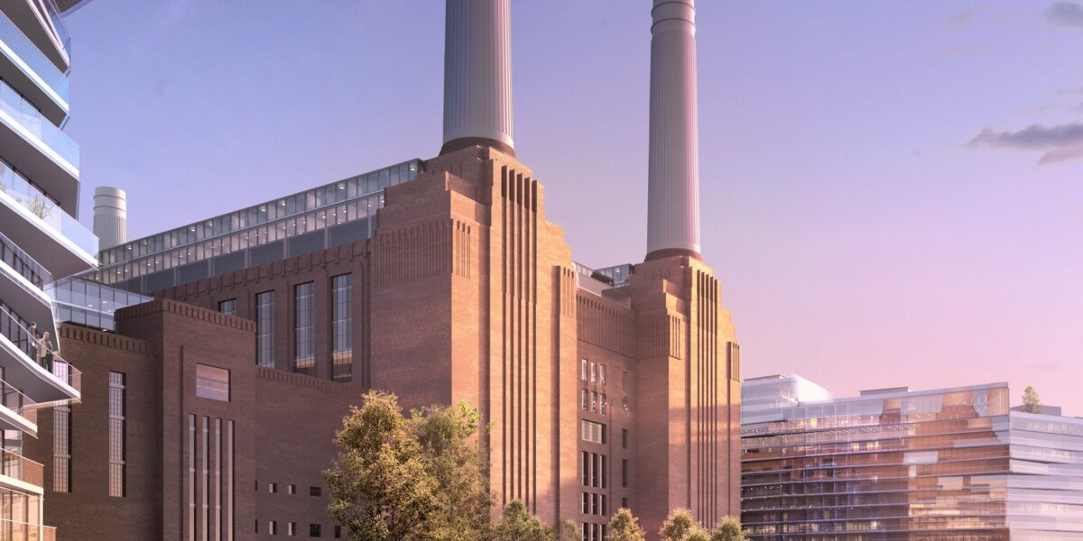 Battersea Power Station: Looking south-west