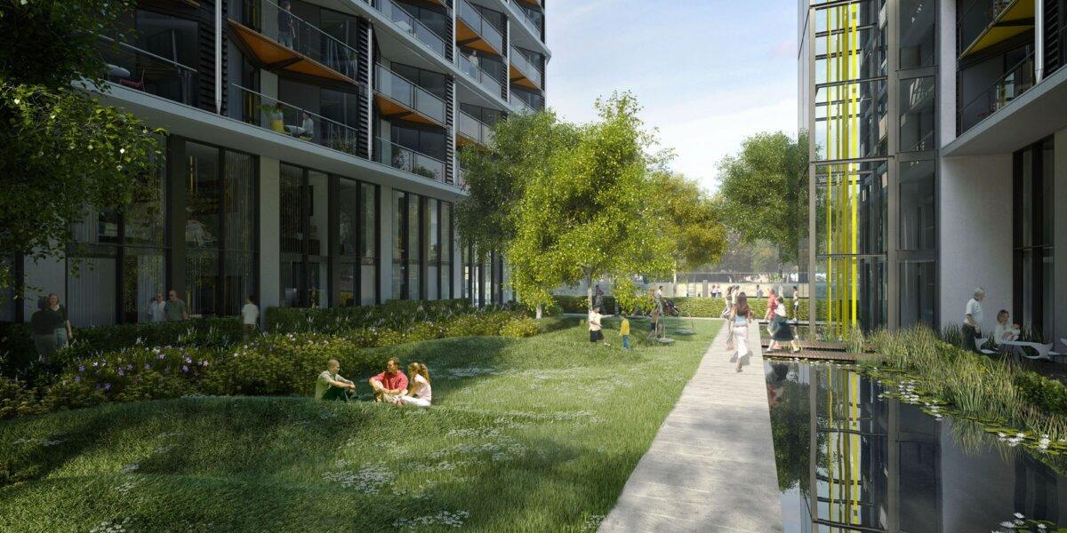 Riverlight green open space