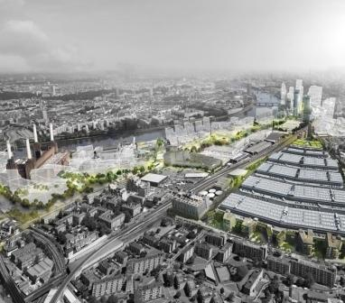 The new Nine Elms from above: looking north-east