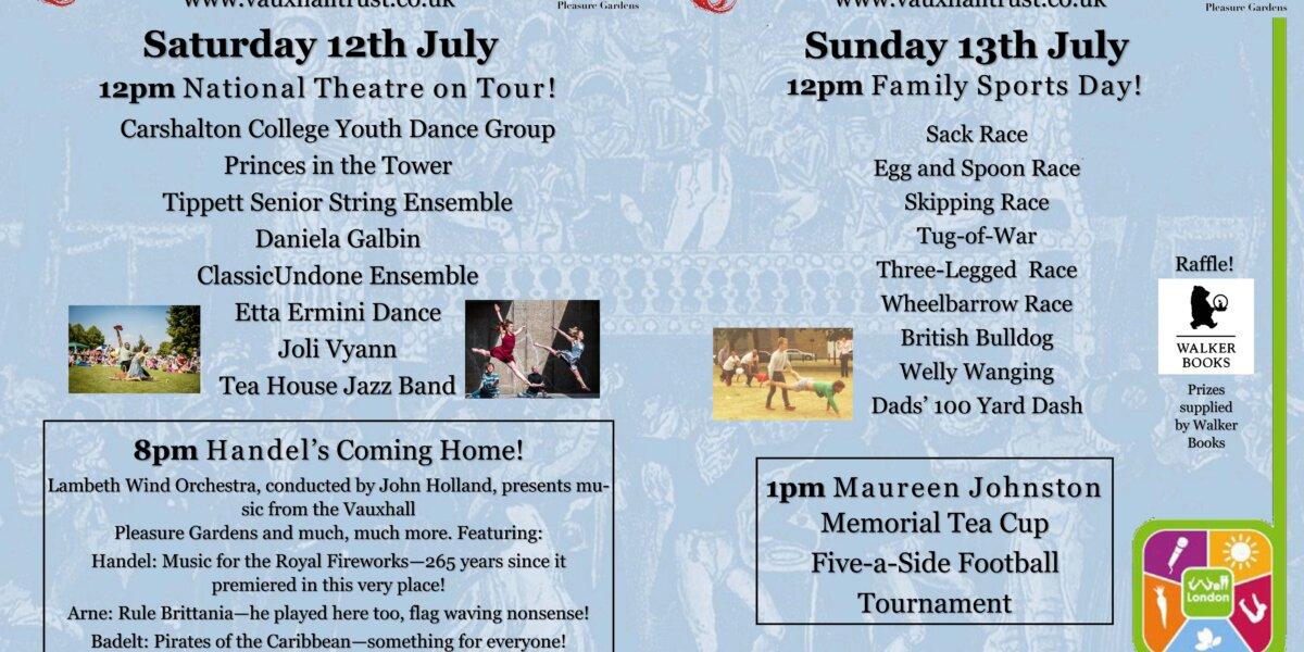 Vauxhall Pleasure Gardens Summer Festival Poster