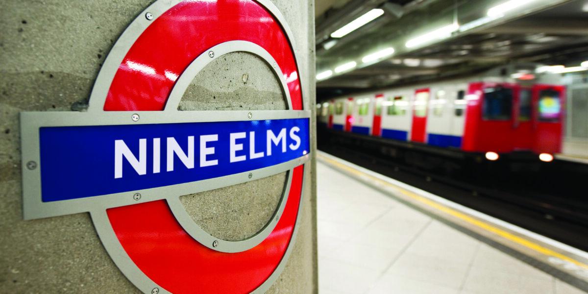 Nine Elms station sign