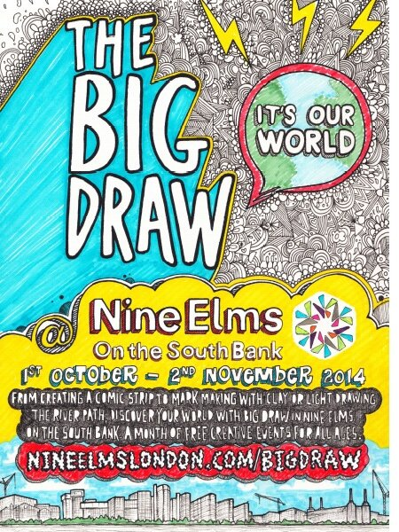 The Big Draw illustrated flyer