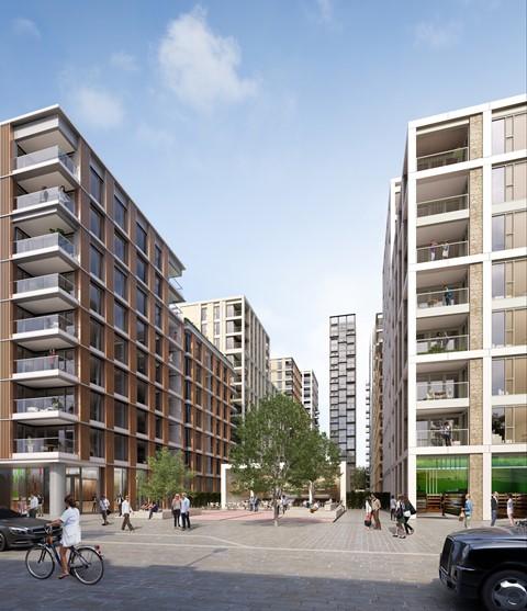 Battersea Gasholder site - computer generated image