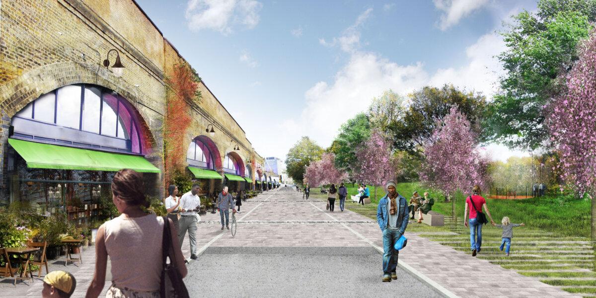 Artist's impression: a revitalised Goding Street