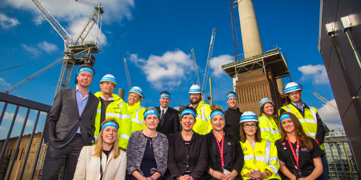 Representatives from Battersea Power Station and its dedicated on site medical team