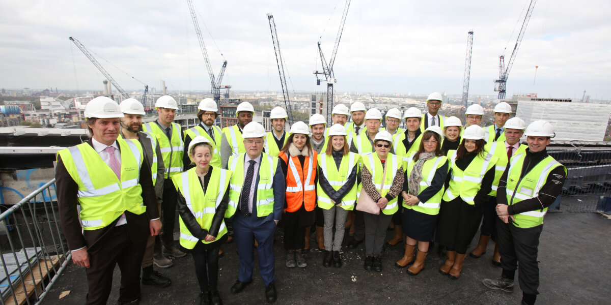 Nine Elms Point Topping Out
