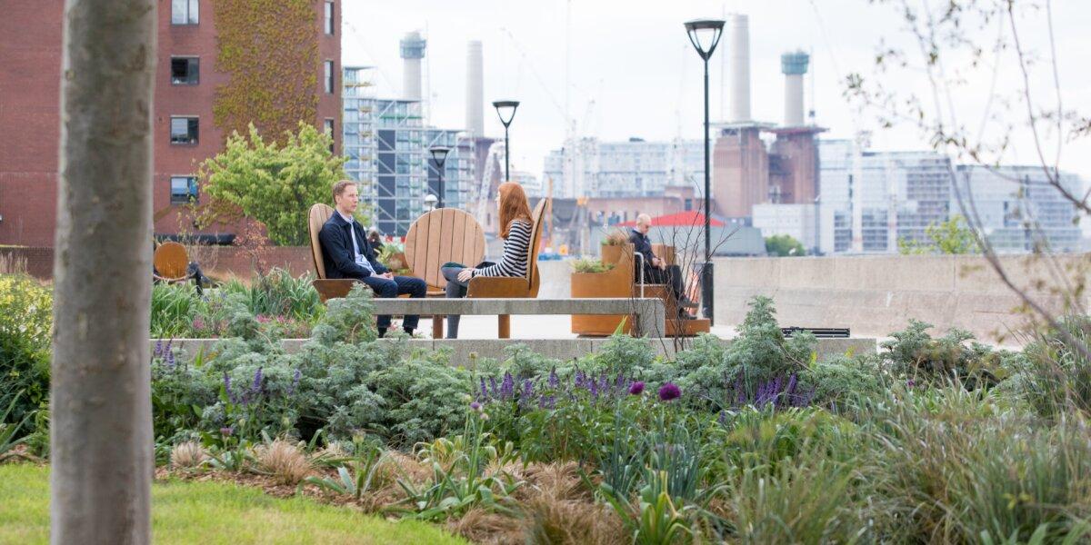 Dawn to Dusk, Studio Tord Boontje. Riverside Gardens Nine Elms SW8. credit – The Nine Elms Vauxhall Partnership