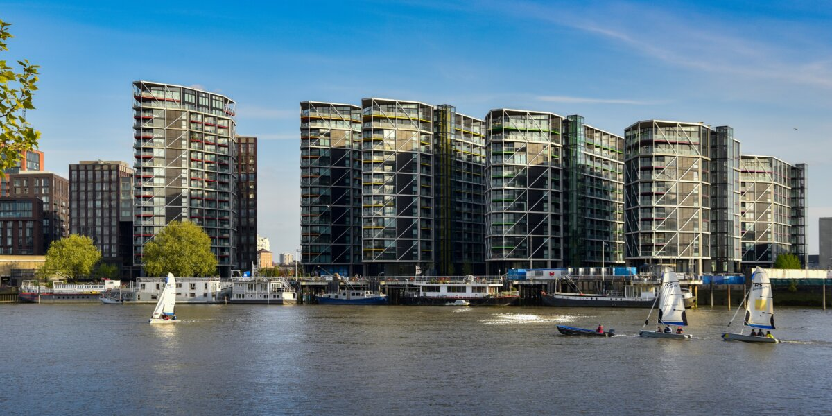View of Riverlight from across River Thames