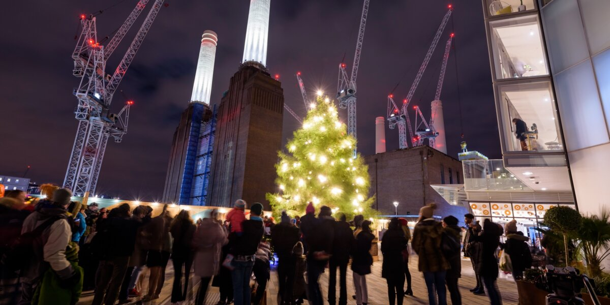 Christmas Lights at Battersea Power Station