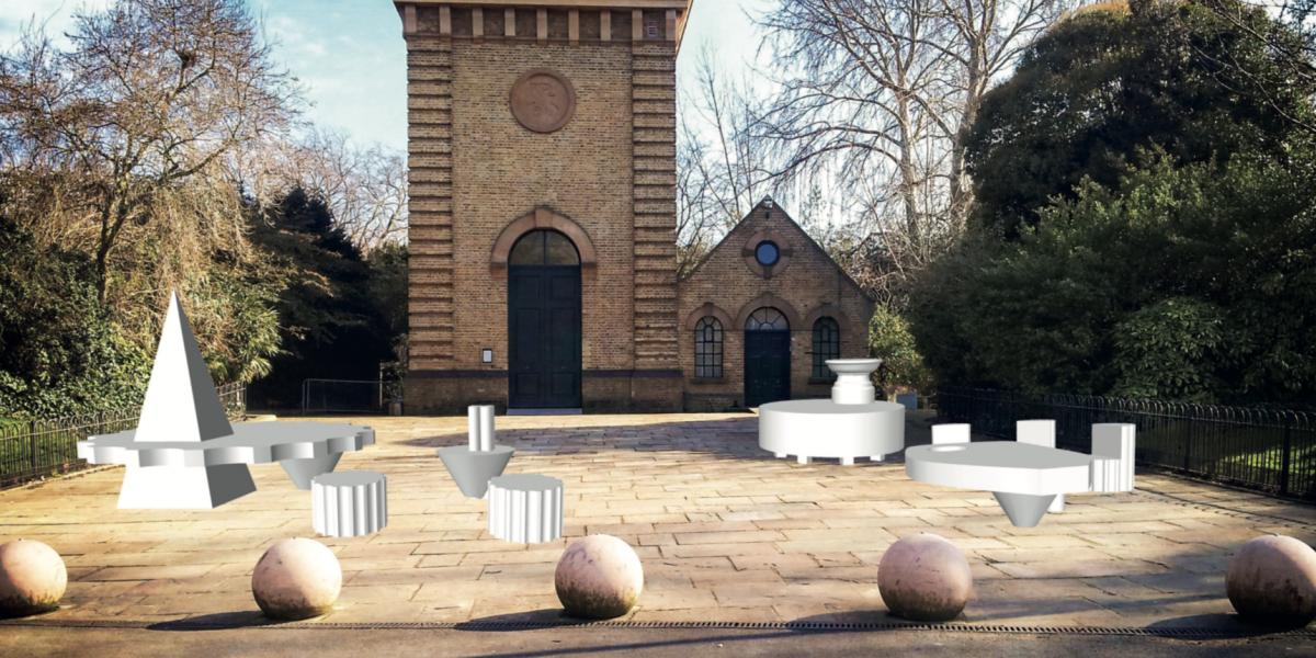 Sam Jacob's Studio visualisation for Fragmented Follies