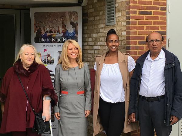 Minister Esther McVey with Jacqueline Heeks Charlene Smith and Harry Goonewardene_600px
