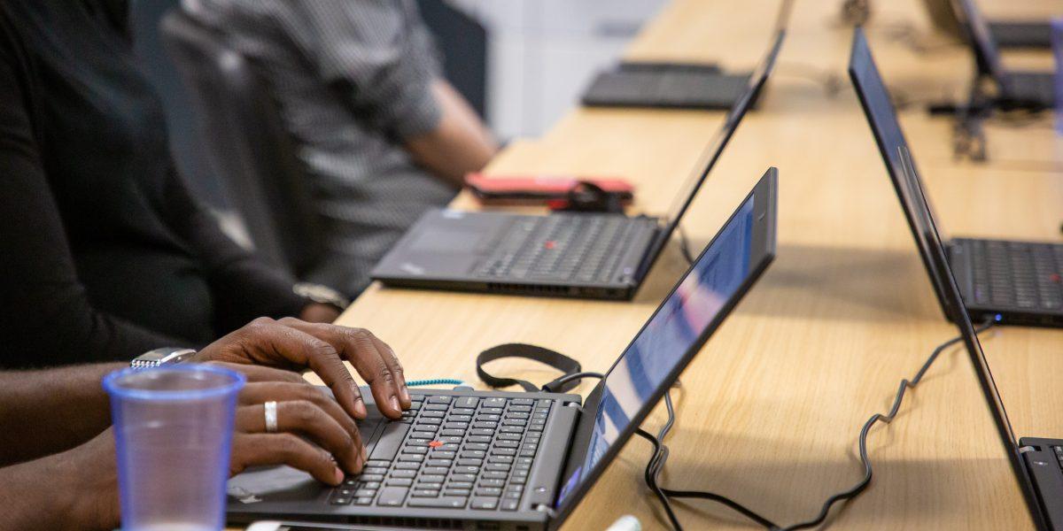 Training on laptops