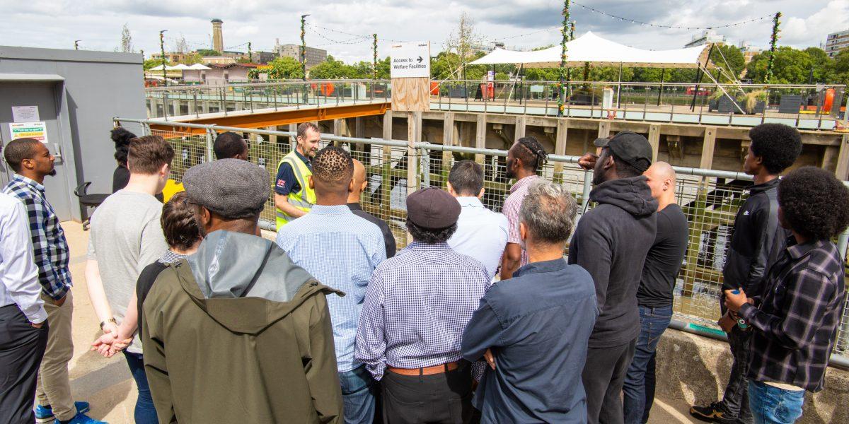 Training course on site tour