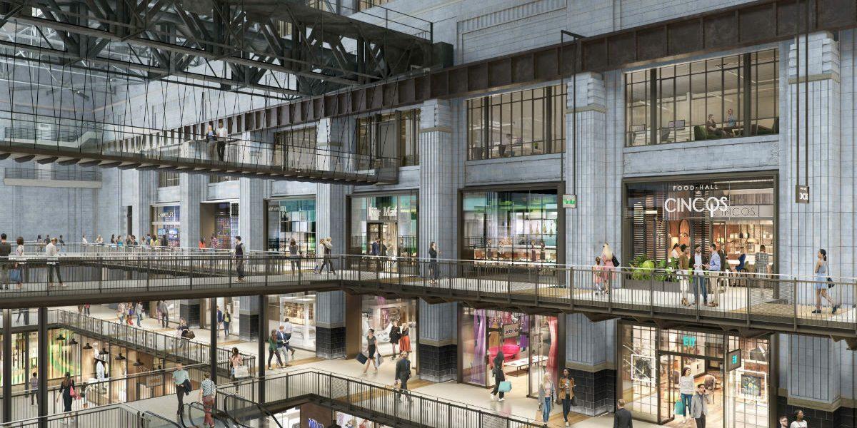 Art deco setting: Retailers in Turbine Hall A