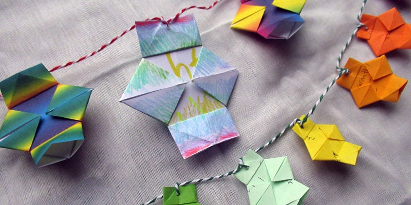 Images of colourful origami