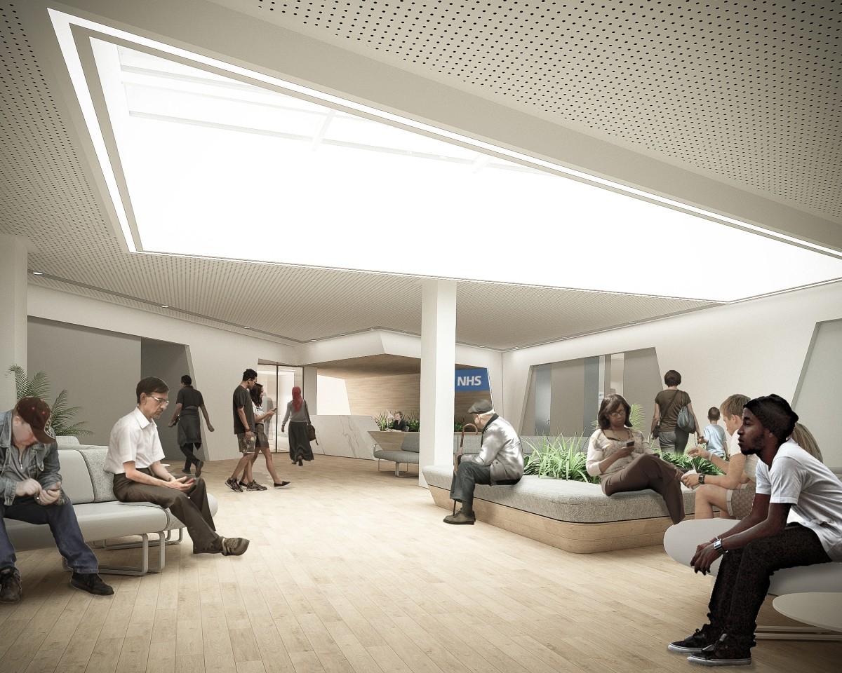 New Health Centre for Nine Elms reception area