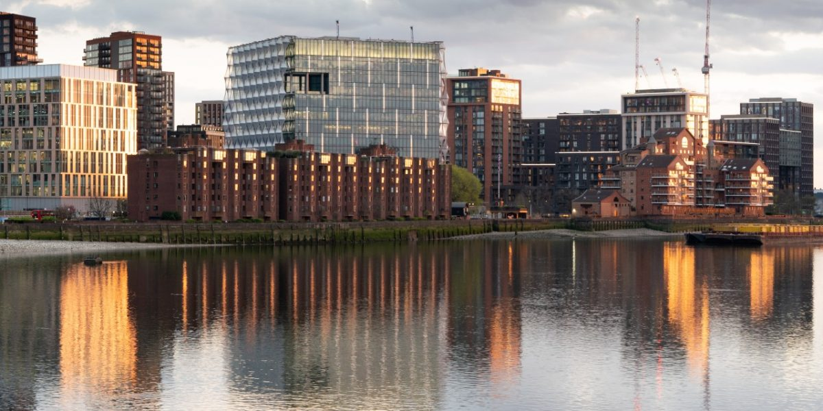 Image from the river at Nine Elms Pavilion