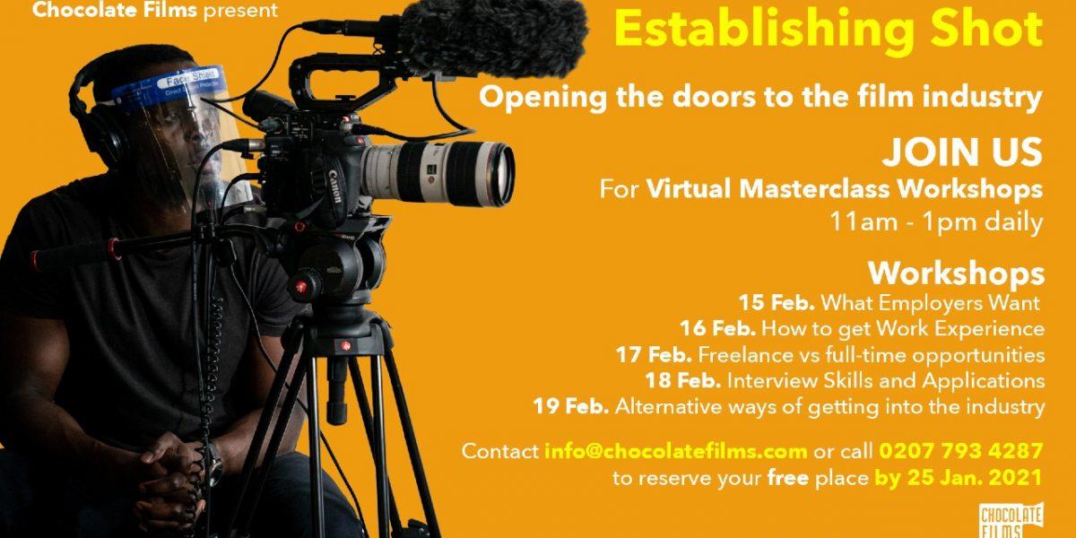 Establishing Shot poster image with list of workshop dates