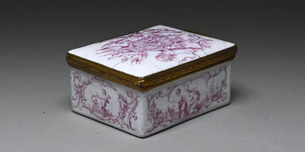 Snuff-box; Battersea enamel on copper © The Trustees of the British Museum