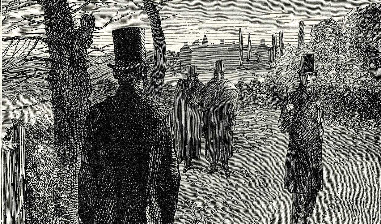 The Duke of Wellington and Lord Winchelsea duel. Image credit: Duncan, 1890