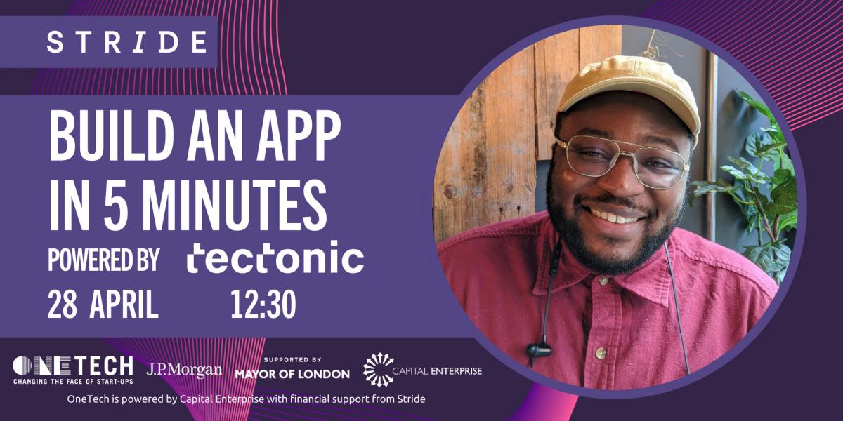 STRIDE_Tectonic_Workshop_Eventbrite_Build an app in five minutes
