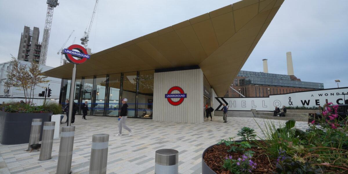 Outside Battersea Power Station Tube