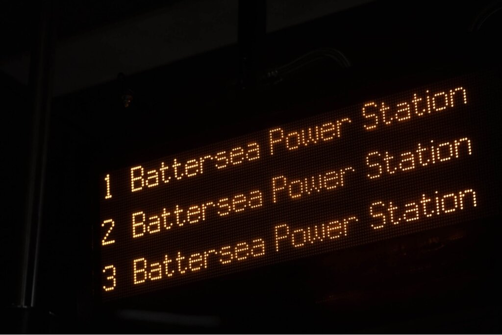 Sign reads Battersea Power Station