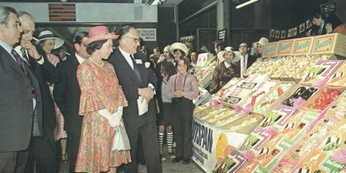 The Queen at the official opening of New Covent Garden Market, June 1975_1280pz